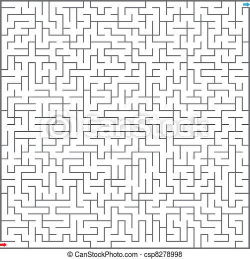 迷宮, 插圖, 矢量 - csp8278998