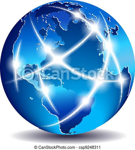 通訊, 全球, 世界, 商業 - csp9248311