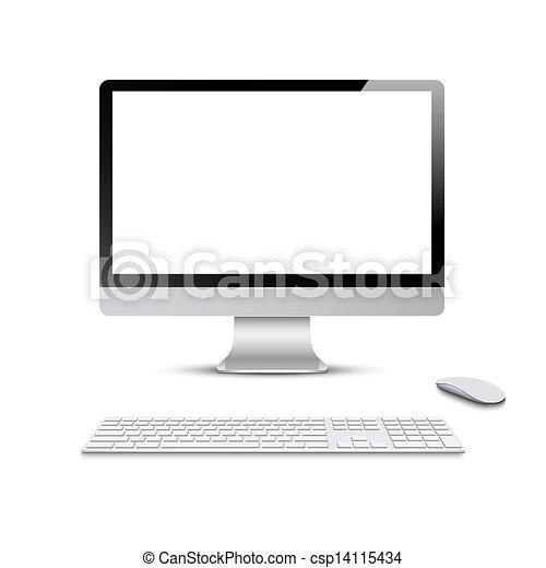 鍵盤, 監控, 電腦 老鼠 - csp14115434