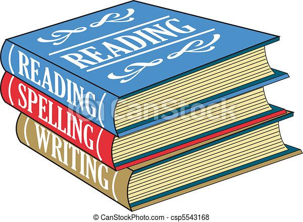 閱讀, 書, 拼寫, 寫 - csp5543168