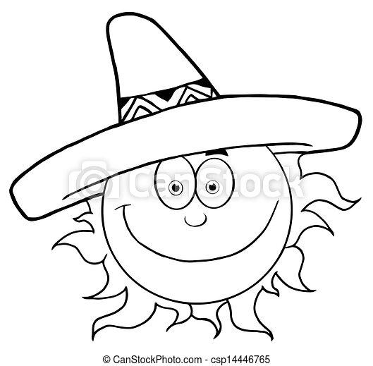 闊邊帽, 微笑太陽, 概述 - csp14446765