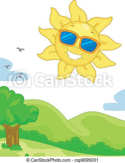 陽光充足的日 - csp9095031