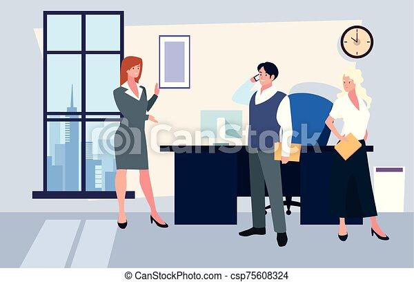 隊, 人們, 工作, 協調, 辦公室, 辦公室, 友好, 事務, 組 - csp75608324