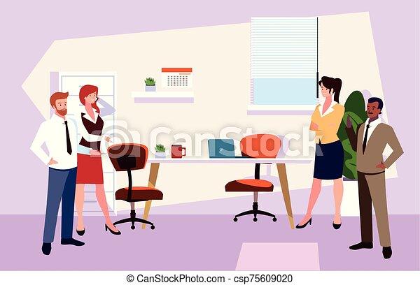 隊, 人們, 工作, 協調, 辦公室, 辦公室, 友好, 事務, 組 - csp75609020