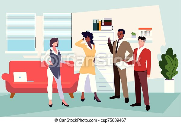 隊, 人們, 工作, 協調, 辦公室, 辦公室, 友好, 事務, 組 - csp75609467