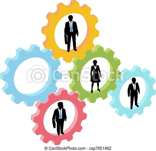 隊, 技術, 齒輪, 商業界人士 - csp7651462