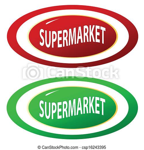 集合, 超級市場, 圖象 - csp16243395