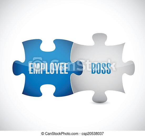 難題, 插圖, 老板, 設計, 雇員, 片斷 - csp20538037