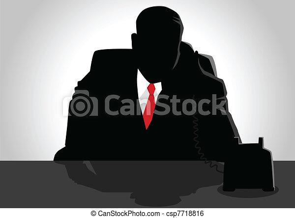 電話, 老板 - csp7718816