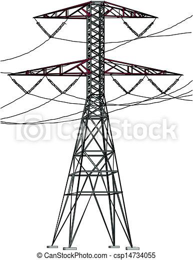 高壓, 線, 力量 - csp14734055