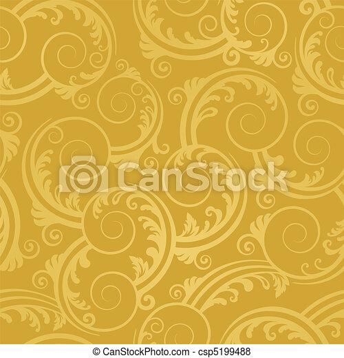 黃金, 打旋, 牆紙, seamless - csp5199488