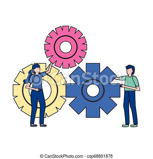 齒輪, 商業界人士 - csp68801878