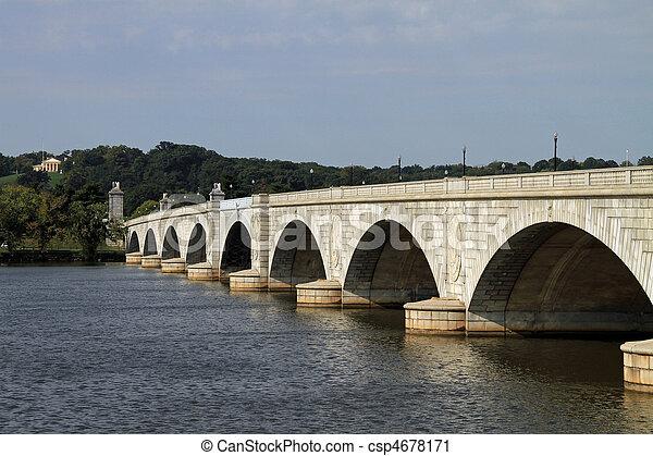 arlington, 紀念館, 橋梁 - csp4678171