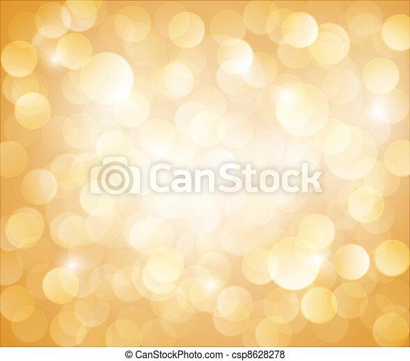 bokeh, 矢量, 陽光普照, 黃色的背景 - csp8628278