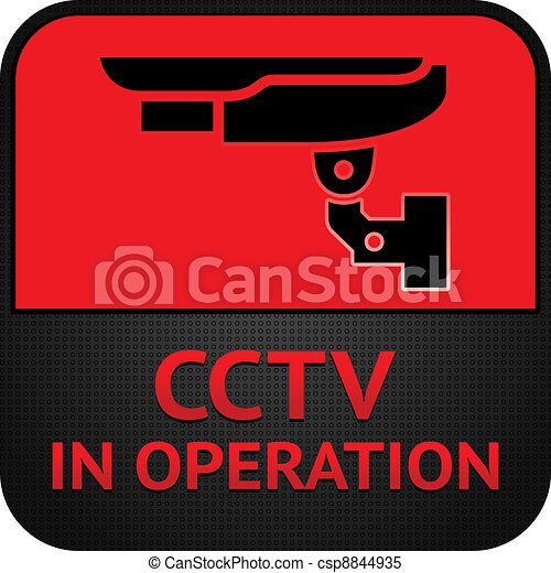 cctv, 符號, 照像機, pictogram, 安全 - csp8844935