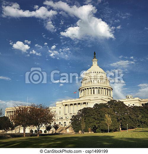 dc., 華盛頓 國會大廈, 建築物 - csp1499199