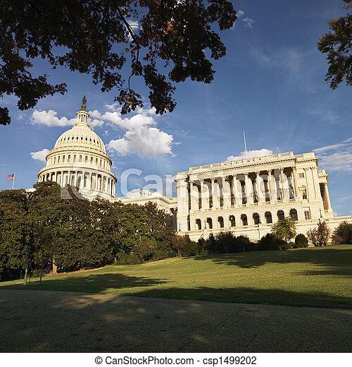 dc., 華盛頓 國會大廈, 建築物 - csp1499202