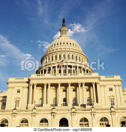 dc., 華盛頓 國會大廈, 建築物 - csp1499208