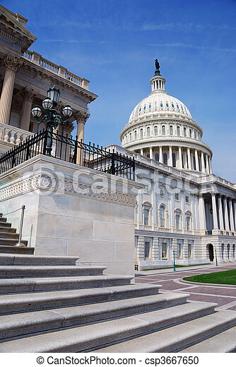 dc., 華盛頓 國會大廈, 我們, 建築物 - csp3667650