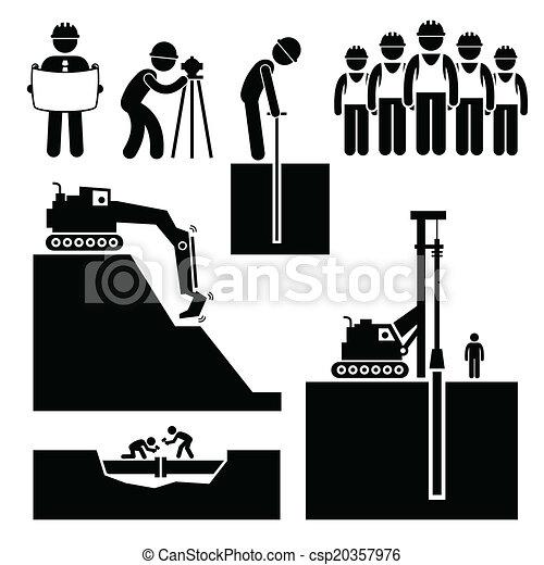 earthwork, 建設工人, 圖象 - csp20357976
