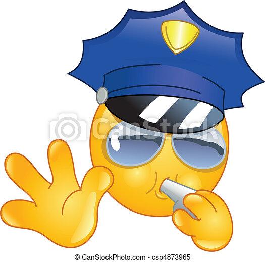 emoticon, 警察 - csp4873965