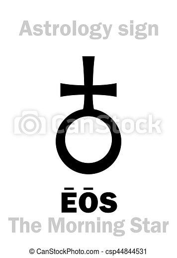 eos, astrology:, 星, (aurora), 早晨 - csp44844531