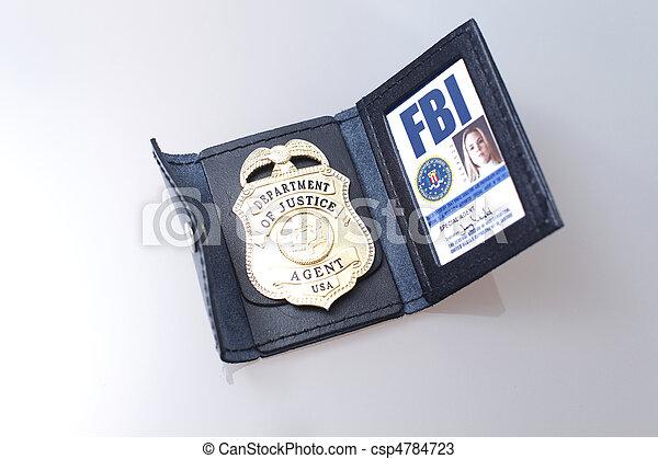 fbi, 徽章 - csp4784723