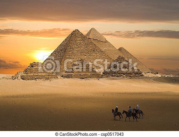 gizeh, 幻想, 金字塔 - csp0517043