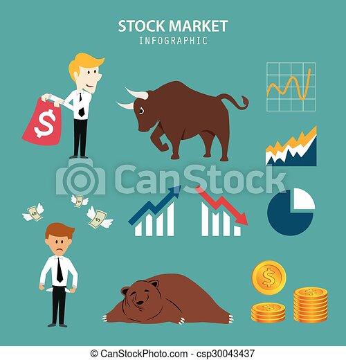 infographic, 市場, 股票 - csp30043437
