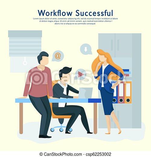 interact., 商業界人士, 工作, 通訊, 隊, 工作流程 - csp62253002