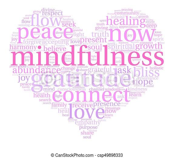 mindfulness, 雲, 詞 - csp49898333