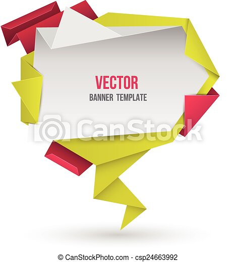 origami, 摘要, 現代, 演說 - csp24663992
