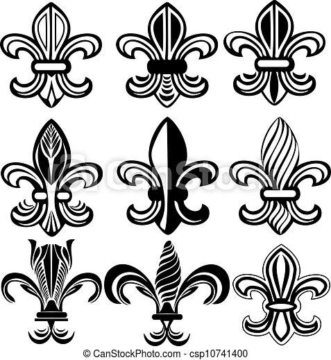 orleans, 符號, lis, fleur, 新, de - csp10741400
