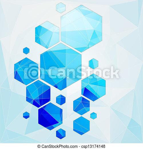 polygonal, 細胞, 摘要, 技術, 背景 - csp13174148
